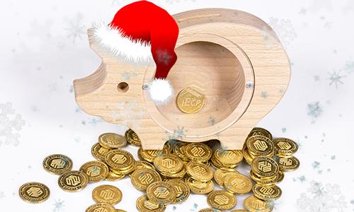 Новогодний подарок копилка iEcp.ru