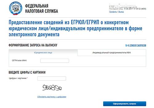 Сервис подачи запроса_выписка ФНС