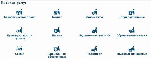 Каталог услуг gu.spb.ru