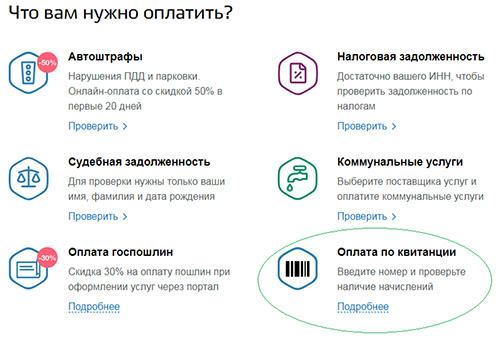 Оплата штрафа ФТС онлайн - gosuslugi.ru
