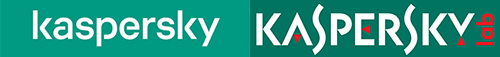 """Прошлый и обновленный логотип """"Лаборатории Касперского"""""""