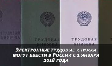 Электронные трудовые книжки могут ввести в России с 1 января 2018 года
