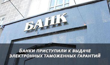 Банки приступили к выдаче электронных таможенных гарантий