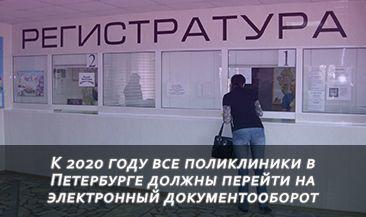 К 2020 году все поликлиники в Петербурге должны перейти на электронный документооборот
