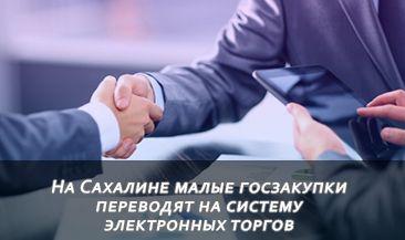 На Сахалине малые госзакупки переводят на систему электронных торгов