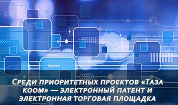 Среди приоритетных проектов «Таза коом» — введение электронного патента и электронная торговая площадка