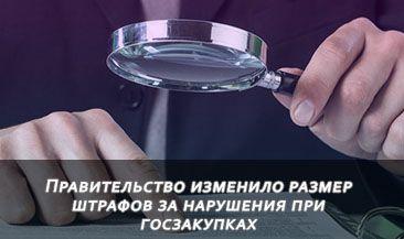 Правительство изменило размер штрафов за нарушения при госзакупках