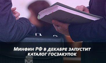 Минфин РФ в декабре запустит каталог госзакупок