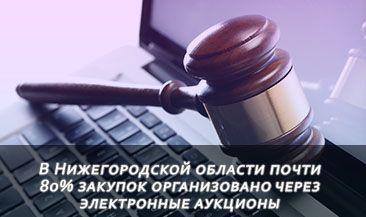 В Нижегородской области почти 80% закупок организовано через электронные аукционы