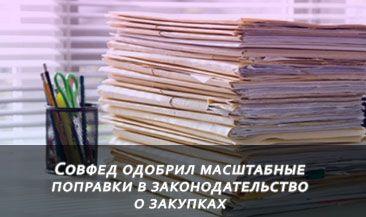 Совфед одобрил масштабные поправки в законодательство о закупках