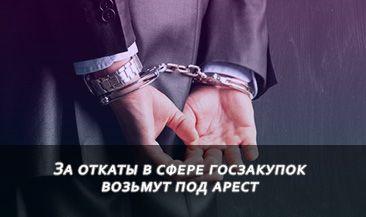 За откаты в сфере госзакупок возьмут под арест