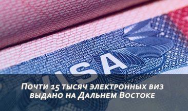 Почти 15 тысяч электронных виз выдано на Дальнем Востоке