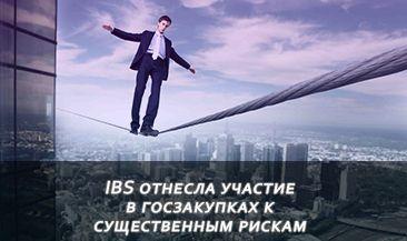 IBS отнесла участие в госзакупках к существенным рискам