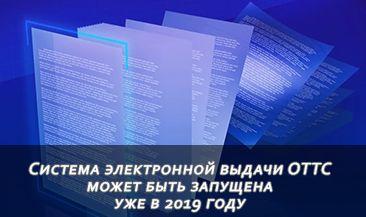 Система электронной выдачи ОТТС может быть запущена уже в 2019 году