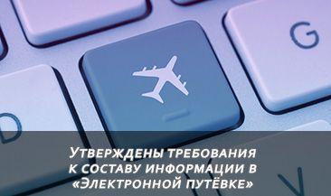 Утверждены требования к составу информации в «Электронной путёвке»