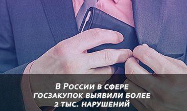 В России в сфере госзакупок выявили более 2 тыс. нарушений
