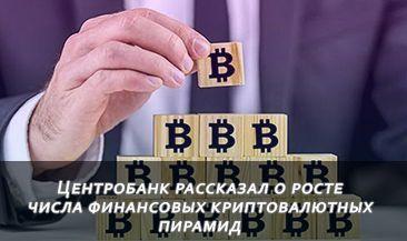 Центробанк рассказал о росте числа финансовых криптовалютных пирамид