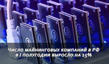Число майнинговых компаний в РФ в I полугодии выросло на 15%