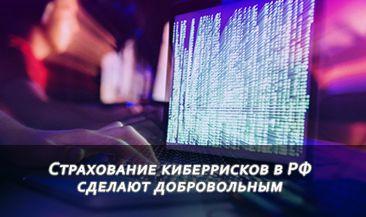 Страхование киберрисков в РФ сделают добровольным