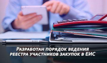 Разработан порядок ведения реестра участников закупок в ЕИС