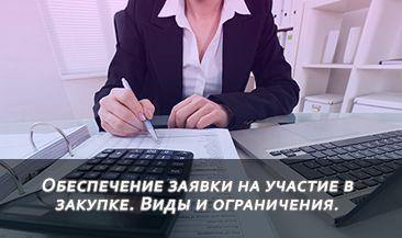 Обеспечение заявки на участие в закупке. Виды и ограничения.