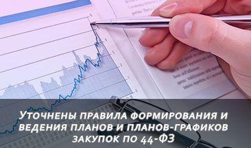 Уточнены правила формирования и ведения планов и планов-графиков закупок по 44-ФЗ