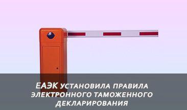 ЕАЭК установила правила электронного таможенного декларирования