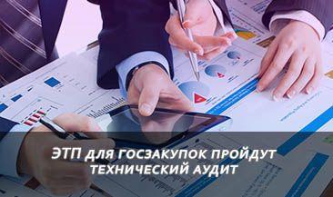 ЭТП для госзакупок пройдут технический аудит