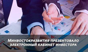 Минвостокразвития презентовало электронный кабинет инвестора