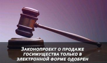 Законопроект о продаже госимущества только в электронной форме одобрен
