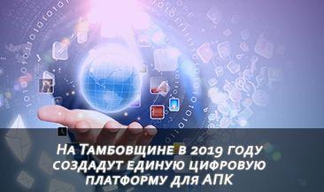 На Тамбовщине в 2019 году создадут единую цифровую платформу для АПК
