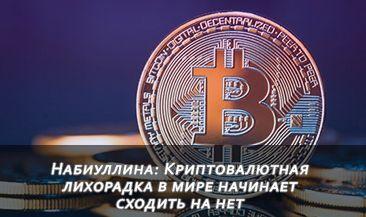 Набиуллина: Криптовалютная лихорадка в мире начинает сходить на нет