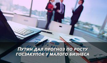 Путин дал прогноз по росту госзакупок у малого бизнеса