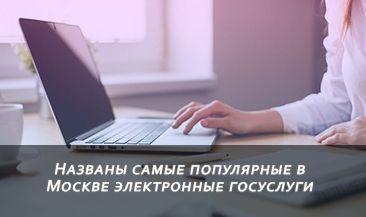 Названы самые популярные в Москве электронные госуслуги