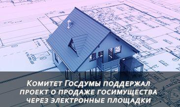 Комитет Госдумы поддержал проект о продаже госимущества через электронные площадки