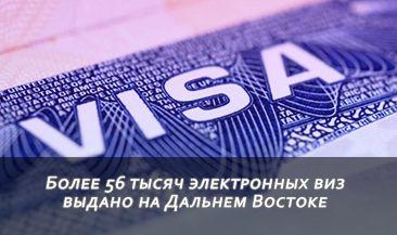 Более 56 тысяч электронных виз выдано на Дальнем Востоке