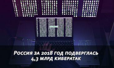 Россия за 2018 год подверглась 4,3 млрд кибератак