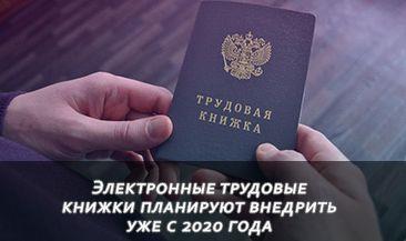 Электронные трудовые книжки планируют внедрить уже с 2020 года