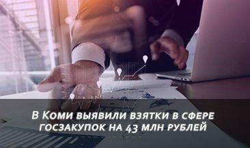 В Коми выявили взятки в сфере госзакупок на 43 млн рублей