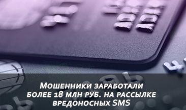 Мошенники заработали более 18 млн руб. на рассылке вредоносных SMS