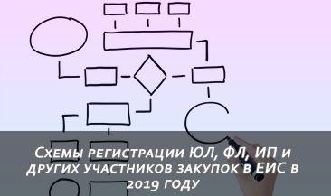 Схемы регистрации ЮЛ, ФЛ, ИП и других участников закупок в ЕИС в 2019 году