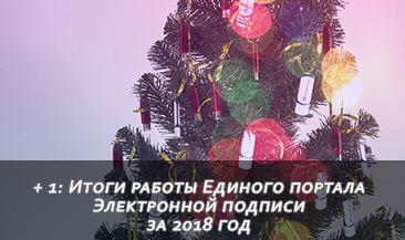 + 1: Итоги работы Единого портала Электронной подписи за 2018 год