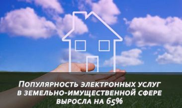 Популярность электронных услуг в земельно‐имущественной сфере выросла на 65%