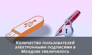 Количество пользователей электронными подписями в Молдове увеличилось более чем на 30%