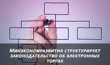Минэкономразвития структурирует законодательство об электронных торгах
