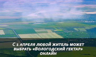 С 1 апреля любой житель может выбрать «Вологодский гектар» онлайн