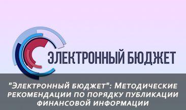 """""""Электронный бюджет"""": Методические рекомендации по порядку публикации финансовой информации"""