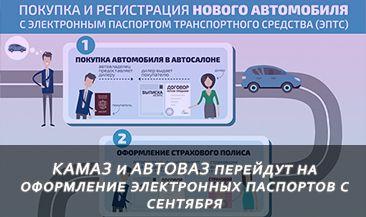 КАМАЗ и АВТОВАЗ перейдут на оформление электронных паспортов с сентября