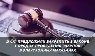 В СФ предложили закрепить в законе порядок проведения закупок в электронных магазинах