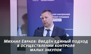 Михаил Евраев: Введён единый подход в осуществлении контроля малых закупок